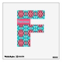 Pink and Turquoise Starfish Pattern Wall Sticker