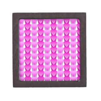 Pink and Violet Heart In a Row Premium Trinket Box