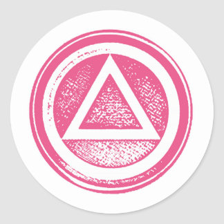 Pink and White AA Recovery Sobriety Sticker