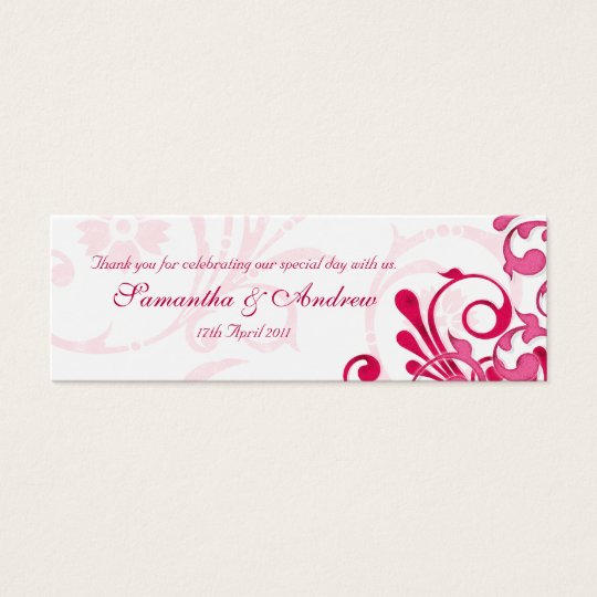 Pink and White Abstract Floral Favour Tags