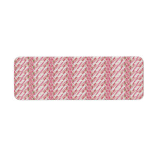 Pink and White Abstract Floral Print Return Address Label