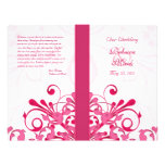 """Pink and White Abstract Floral Wedding Program 8.5"""" X 11"""" Flyer"""