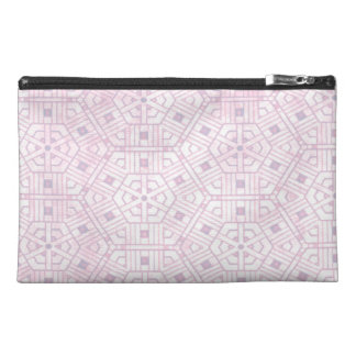 Pink and White Abstract Pattern Travel Accessory Bags