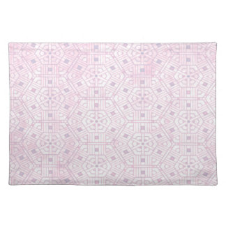 Pink and White Abstract Pattern Placemats