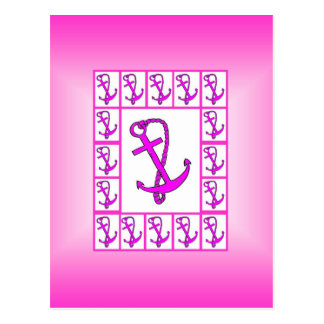 Pink and White Anchor Postcard