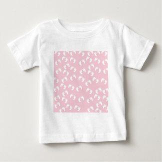 Pink and White Baby Feet - Baby Shower Print Baby T-Shirt
