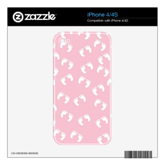 Pink and White Baby Feet - Baby Shower Print Decals For The iPhone 4S