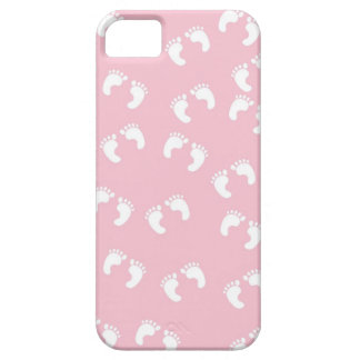 Pink and White Baby Feet - Baby Shower Print iPhone 5 Case