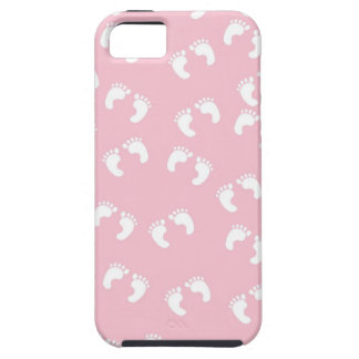Pink and White Baby Feet - Baby Shower Print iPhone 5 Cases