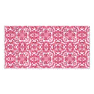 Pink and white background card