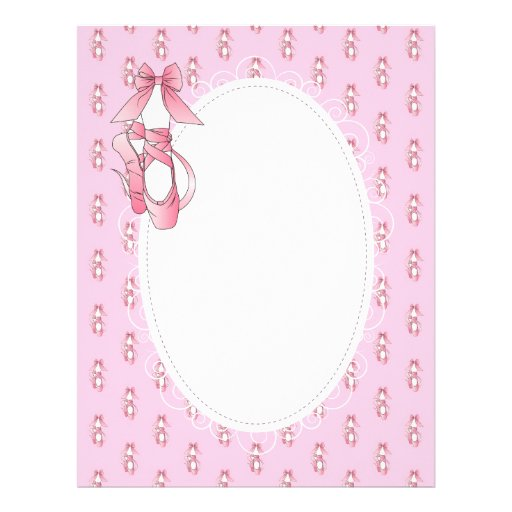 Pink and White Ballet Shoes Letterhead Template