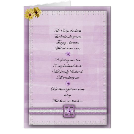 Pink and white Be my bridesmaid card