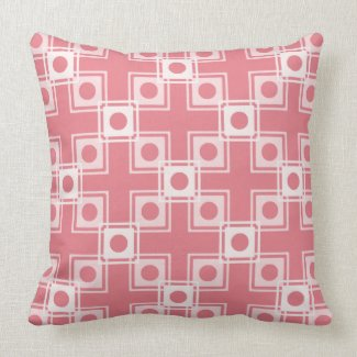 Pink and White Block Pattern Reversible