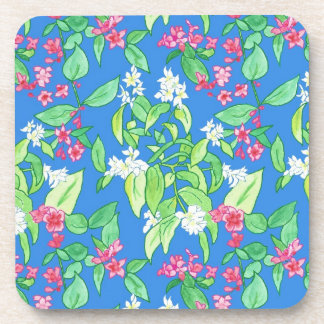 Pink and White Blossom Cork-backed Table Mats Coaster