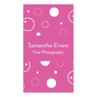 Pink and White Bubbles Business Card