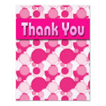 PINK AND WHITE BUBBLES THANK YOU NOTES CUSTOM ANNOUNCEMENT