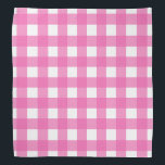 """Pink and White Buffalo Check Bandana<br><div class=""""desc"""">This cute bandana is the perfect accessory for you,  your child or your favorite dog.</div>"""