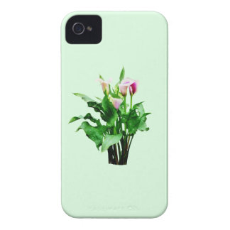 Pink and White Calla Lilies iPhone 4 Case-Mate Case