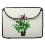 Pink and White Calla Lilies Sleeves For MacBooks