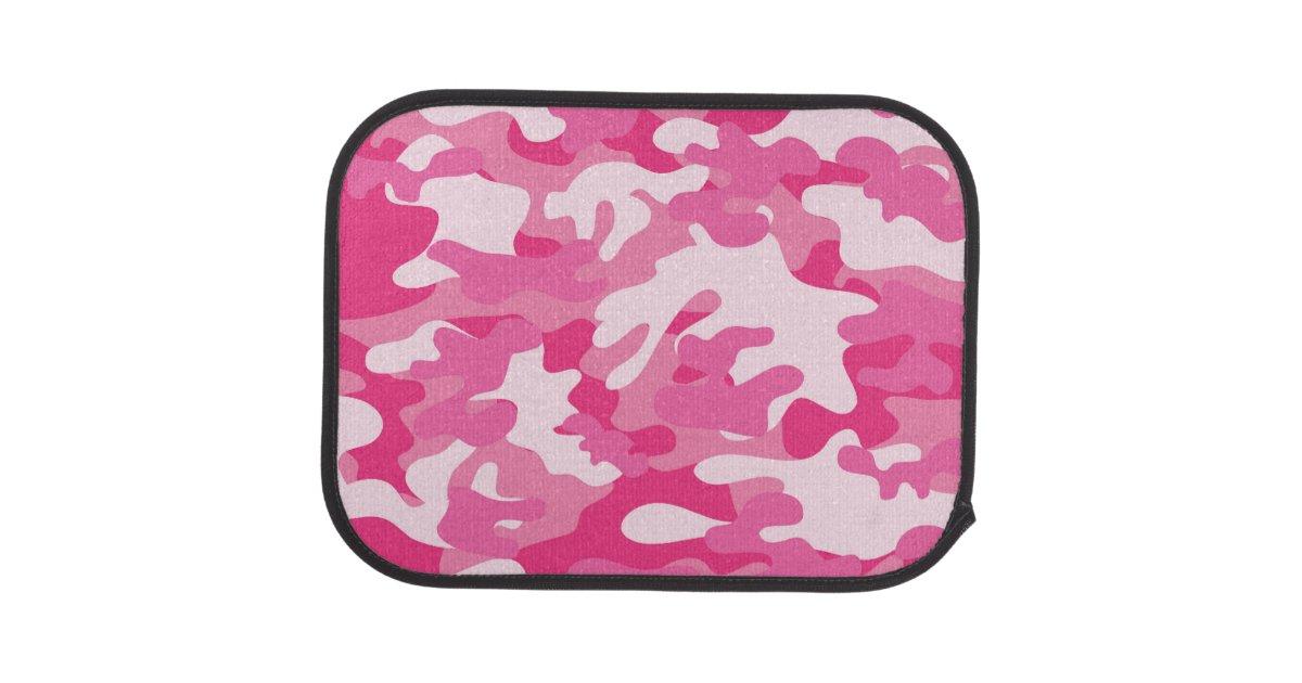 Pink And White Camo Design Car Floor Mat Zazzle