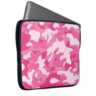 Pink and White Camo Design Computer Sleeve