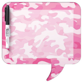 Pink and White Camo Design Dry Erase Board