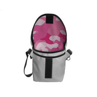 Pink and White Camo Design Courier Bags