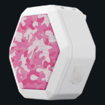 """Pink and White Camo Design White Bluetooth Speaker<br><div class=""""desc"""">An eye catching pink and white camouflage design.  Perfect for anyone,  this style is IN!  Looks great on any product,  any time of the year!</div>"""