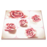 Pink and White Candy Rose Collage Gallery Wrap Canvas