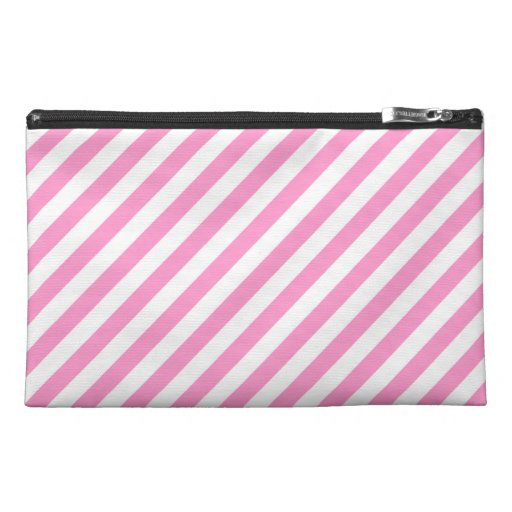 Pink and White Candy Stripes. Travel Accessories Bag