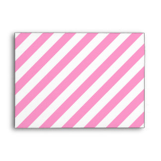 Pink and White Candy Stripes. Envelope