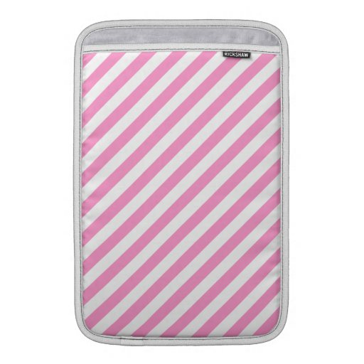 Pink and White Candy Stripes. MacBook Sleeve