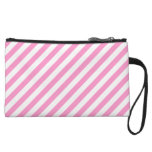 Pink and White Candy Stripes. Wristlets