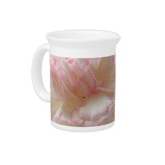 Pink and White Carnation Pitcher