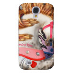 Pink and white carousel horse photograph fair galaxy s4 cover