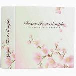 Pink And White Cherry Blossom Nature Design 3 Ring Binder