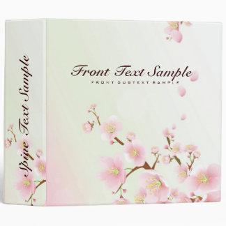 Pink And White Cherry Blossom Nature Design Vinyl Binders