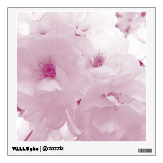 Pink and white cherry blossom sakura flowers wall decal