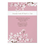 Pink and White Cherry Blossoms Post Wedding Personalized Announcements