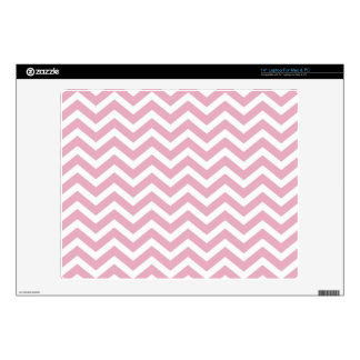 "Pink and white chevron 14"" laptop decal"