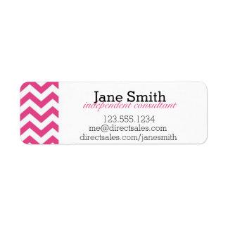 Pink and White Chevron Address / Catalog Label