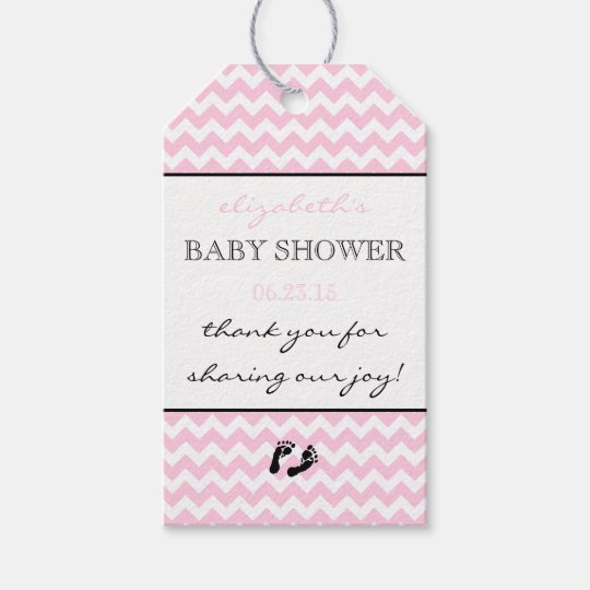Baby Gift Thank You Card Packs : Pink and white chevron baby shower thank you favor gift