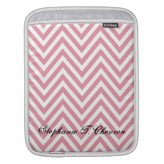 Pink and White Chevron Ipad Case