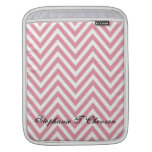 Pink and White Chevron Ipad Case Sleeves For iPads