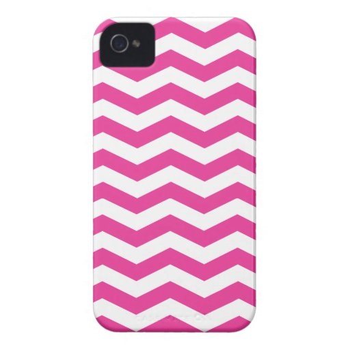 Pink and White Chevron iPhone Case iPhone 4 Covers
