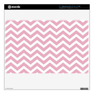 Pink and white chevron MacBook air decal
