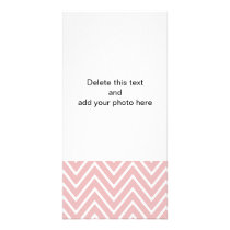 Pink and White Chevron Pattern 2 Card