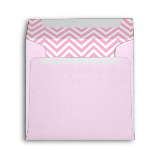 Pink And White Chevron Pattern Envelope