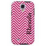 Pink and White Chevron Samsung Galaxy S4 Case