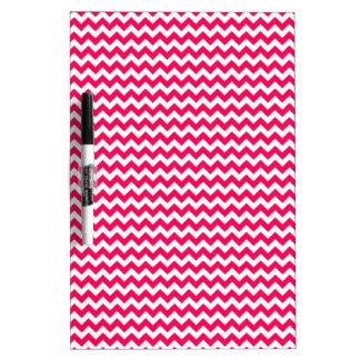 Pink and White Chevron Stripe Dry Erase Board